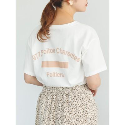 カレッジプリントクルーネックビッグTシャツ