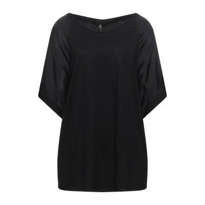 マニラ グレース MANILA GRACE T シャツ ブラック 4 レーヨン 80% / ウール 20% / シルク / ポリウレタン T シャツ