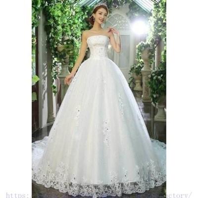 2020新作レディース花嫁結婚式パーティー用ロングドレス演奏会年会二次会韓国風ウエディングドレス