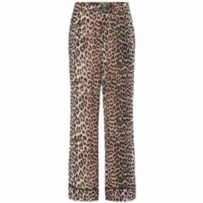 ガニー Ganni レディース ボトムス・パンツ Printed georgette pants leopard