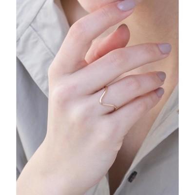 指輪 <CYCRO>K14gold-filled Vラインリング