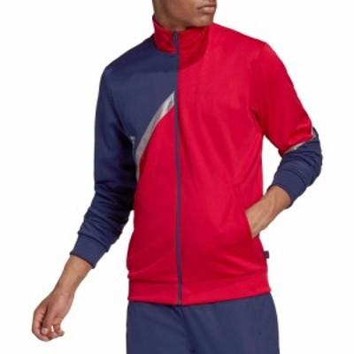 アディダス adidas メンズ ジャケット アウター Tango Club Jacket Scarlet/Team Navy Blue