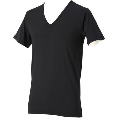ファイテン(phiten) RAKUシャツ メンズインナー V首半袖 ブラック L 1313JG039105