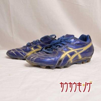 【中古】asics/アシックス サッカー スパイク ブルー/ゴールド/ブラック サイズ23.0cm TS1056