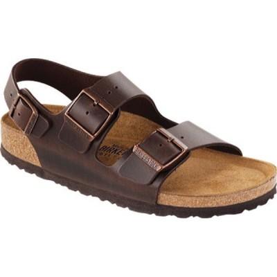 ビルケンシュトック Birkenstock レディース サンダル・ミュール シューズ・靴 Milano Amalfi Leather with Soft Footbed Brown Amalfi Leather