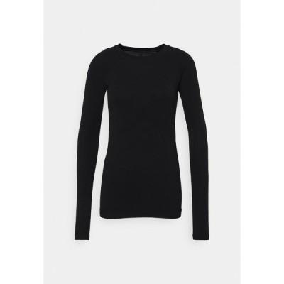 スウェッティベティ カットソー レディース トップス GLISTEN WORKOUT - Long sleeved top - black