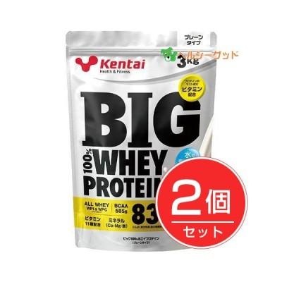 ケンタイ プロテイン BIG100% ホエイプロテイン プレーンタイプ 3kg×2個セット  - 健康体力研究所 (kentai) [ケンタイ]
