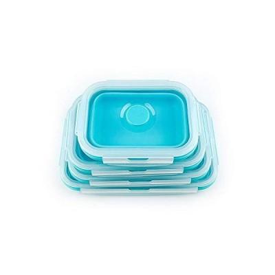 シリコン折りたたみ弁当箱 シリコーン弁当箱 エコシリコン容器(1200ml)