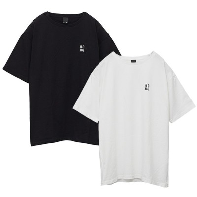 BAGARCH バガーチ WIDE SILHOUETTE T-shirt スクエア ロゴ SQUARE LOGO-TS BH-1325 ストリート AK-69 ak69 エーケー かっこいい おしゃれ モテる STREE