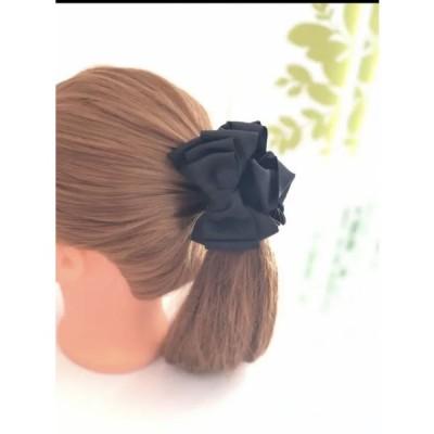 バンスクリップ カラーが選べる シンプルリボンバンスクリップ プレゼント オフィスファッション 前髪クリップ 簡単アレンジ 母の日
