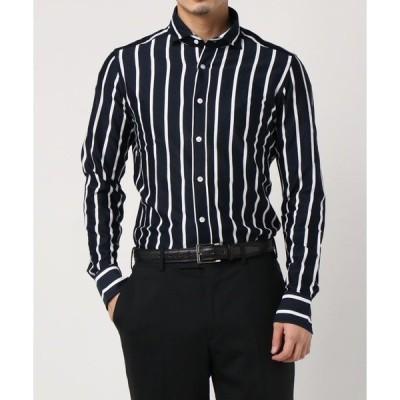 シャツ ブラウス BAGUTTA / ストライプ柄コットンジャージシャツ
