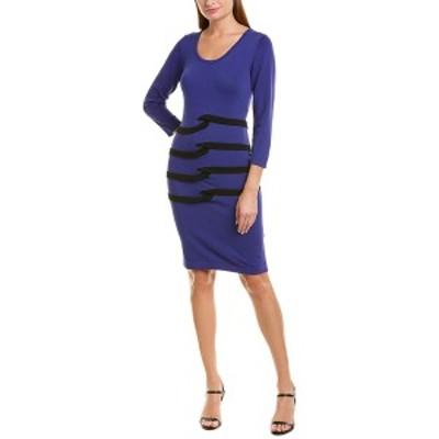 ニコルミラー レディース ワンピース トップス Nicole Miller Artelier Sweaterdress blue and black