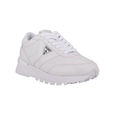 ゲス スニーカー シューズ レディース Women's Samsin Sneakers White Faux Leather