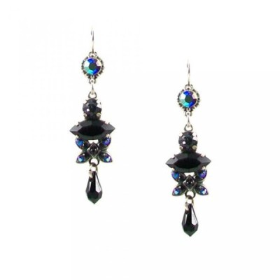 "マリアナ イヤリング Mariana ""Grease Lightning"" Antique Silver Plated Swarovski Crystal Dangle Earrings"