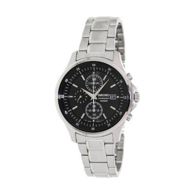 腕時計 セイコー メンズ SNDE19 Seiko Black Dial Chronograph Stainless Steel Mens Watch SNDE19