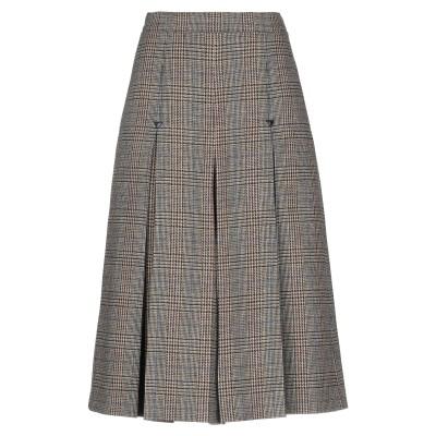 セリーヌ CELINE 7分丈スカート サンド 34 ウール 96% / ナイロン 4% / 牛革 7分丈スカート