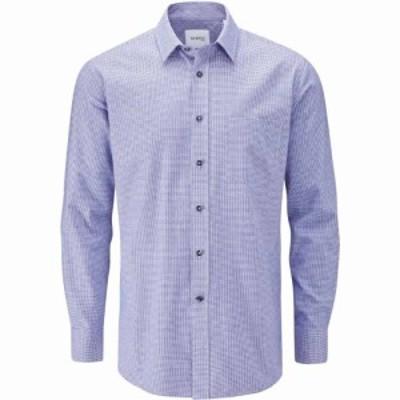 スコープス Skopes メンズ シャツ トップス Cotton Casual Puppytooth Shirts Blue