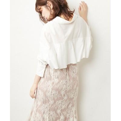 natural couture / バックフリルシャツ WOMEN トップス > シャツ/ブラウス