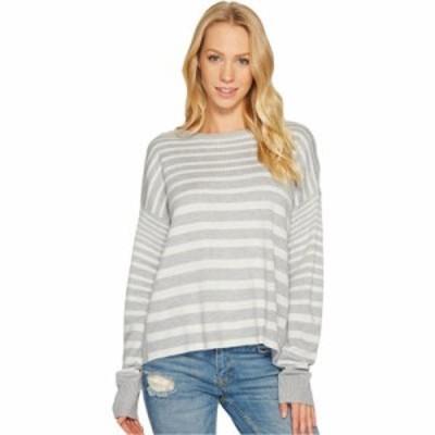 スプレンディッド ニット・セーター Cross-Back Sweater Light Heather Grey/Natural