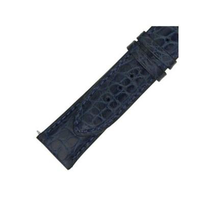 腕時計 バンド ベルト ハドリーローマ Hadley Roma 24 MM Blue Alligator Leather Strap 24ABR06M