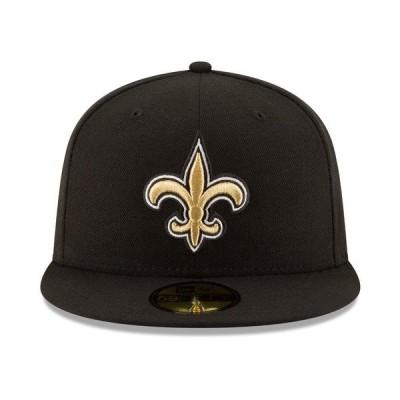 ニューエラ 帽子 アクセサリー メンズ New Orleans Saints Team Basic 59FIFTY Fitted Cap Black/Black