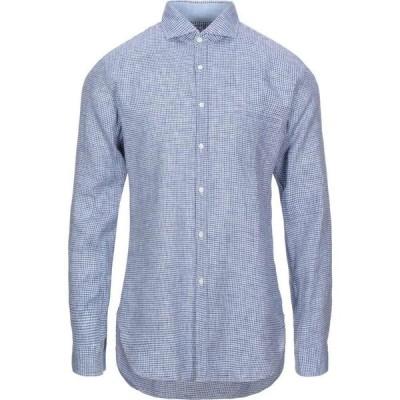 アレッサンドロ ゲラルディ ALESSANDRO GHERARDI メンズ シャツ トップス checked shirt Dark blue
