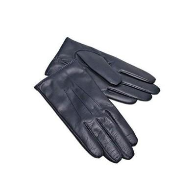 【セール】メンズ 手袋 羊革 カシミヤ混裏地 ネイビー サイズ24cmフリー 日本製