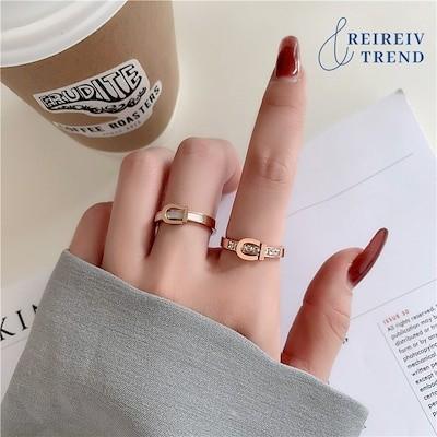 気質母貝のチタン鋼のベルトバックルの指輪尾の指輪の潮風女の韓国版シンプルな箇性の貝殻の人差し指の指輪
