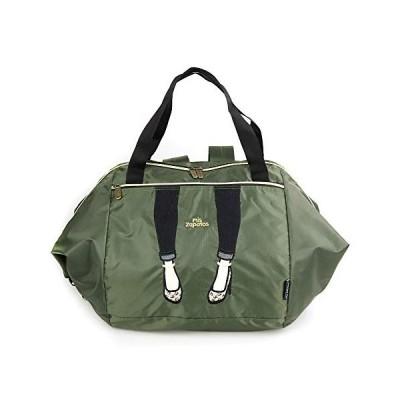 [ミスサパト] 買い物バッグ レディース 3WAY 折りたたみ かごサイズ キャリーオン スキニーパンツ カーキー