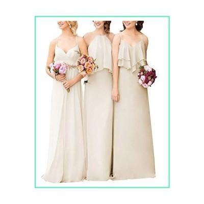 Bridesmaid Dresses for Women Long Boho Straps Formal Wedding Prom GownDark Ivory-b US2並行輸入品