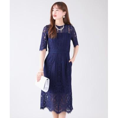 【ブルーイースト】 パネルレースIラインドレス レディース ネイビー LL(03) BLUEEAST