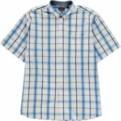 ピエール カルダン Pierre Cardin メンズ シャツ トップス regular fit check shirt White/Blue
