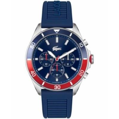 ラコステ メンズ 腕時計 アクセサリー Men's Chronograph Tiebreaker Blue Silicone Strap Watch 44mm Blue
