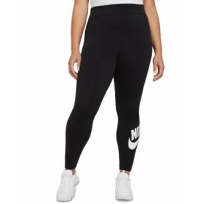 ナイキ レディース カジュアルパンツ ボトムス Plus Size Women's Essential High-Rise Leggings Black/white