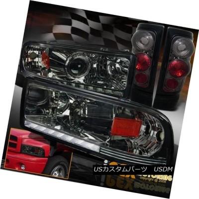 ヘッドライト 1994-2001 Dodge Ram 1500 2500プロジェクターLED DRLスモークヘッドライト+テールライト 1994-20