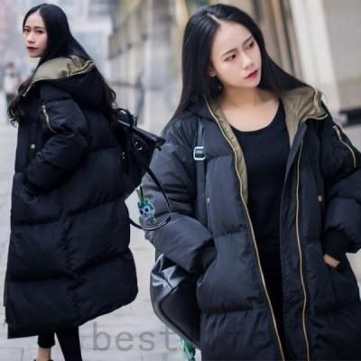 新作韓国ファッションアウター人気のレディースコート通勤オフィス中綿コートロングトレンチゆったりダウンコートエレガントなトレンチコート