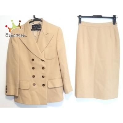 グッチ GUCCI スカートスーツ サイズ40 M レディース ベージュ 肩パッド 新着 20200720