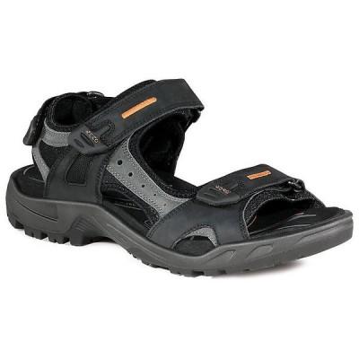 エコー サンダル メンズ シューズ Ecco Men's Yucatan Sandal Black / Mole / Black
