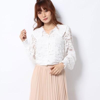 ハニーミーハニー HONEY MI HONEY heart lace blouse/ハートレースブラウス (white)