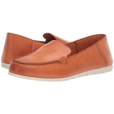 フライ Sedona Venetian Moc レディース ローファー Sunset Orange Dip-Dyed Leather