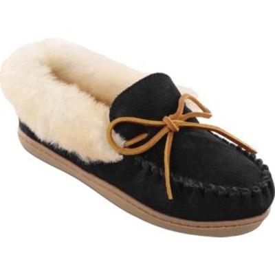 ミネトンカ レディース サンダル シューズ Alpine Sheepskin Moccasin Black Suede/Sheepskin