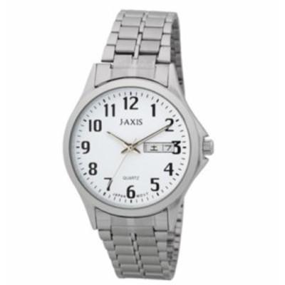 見やすい時計 ジェイアクシス シルバー サンフレイム NAG42-S