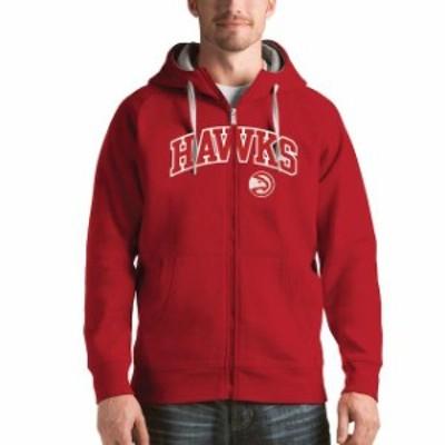 Antigua アンティグア スポーツ用品  Antigua Atlanta Hawks Red Victory Full Zip Hoodie