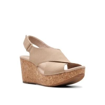 クラークス サンダル シューズ レディース Collection Women's Annadel Parker Wedge Sandals Sand Suede
