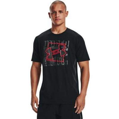 アンダーアーマー Tシャツ 半袖 メンズ UAショートスリーブ ボックス シンボル アウトライン 1366442-001 UNDER ARMOUR