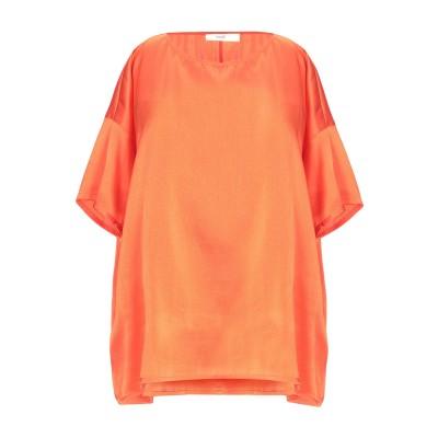 SUOLI ブラウス オレンジ 42 シルク 94% / ポリウレタン 6% ブラウス