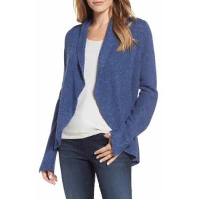 Marled  ファッション トップス Nic + Zoe Womens Blue Size Large L Marled Knit Cardigan Sweater