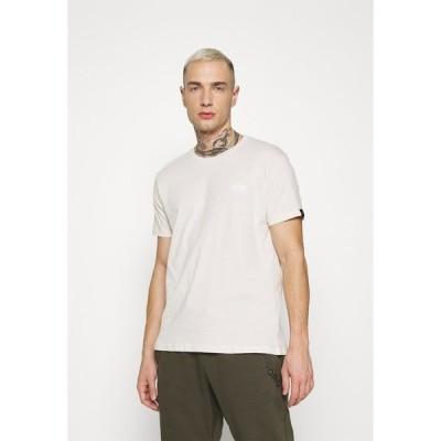 アルファインダストリーズ Tシャツ メンズ トップス BASIC SMALL LOGO - Basic T-shirt -  jet stream white