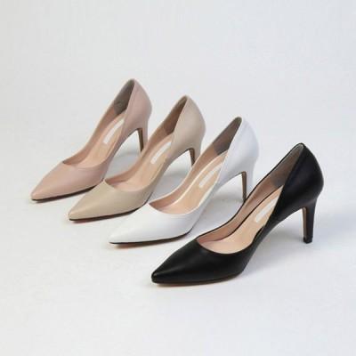 パンプス プレーン ポインテッドトゥ ハイヒール 黒 白 ブラック ホワイト ピンク ベージュ レディースシューズ 婦人靴 靴 歩きやすい 痛くない