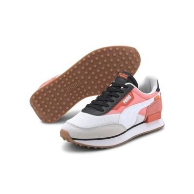 プーマ レディース スニーカー シューズ Puma Future Rider sneakers in white and pink Wh1 - white 1